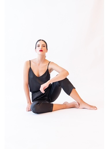 Hays Kadın Yüksek Bel Viscon Dokuma Uzun Alt Siyah